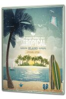 Tin Sign XXL Holiday Travel Agency Tropical Iceland
