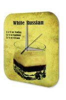 Wall Clock Bar Party Vintage Decoration Cocktail White...