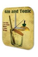 Nostalgic Wall Clock Alcohol Retro Deco Gin Tonic Acrylglas