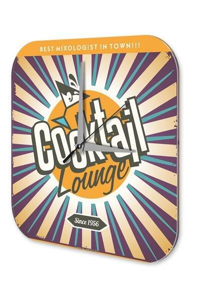Wall Clock Bar Party Vintage Decoration Cocktail lounge Plexiglass