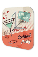 Nostalgic Wall Clock Alcohol Retro Deco Cocktail party...