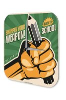 Wall Clock Home Office Pencil weapon Printed Acryl...