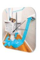 Decorative Wall Clock Fun Dog toilet Printed Acryl...