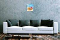 Wall Clock Kitchen Decor Ice Cream Printed Acryl Acrylglass