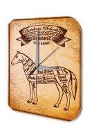 Wall Clock Retro Vintage Horse meat Printed Acryl Acrylglass