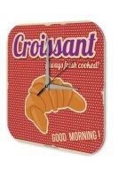 Wall Clock Kitchen Decor Croissant breakfast Printed...