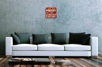 Wall Clock Nostalgic Motif Limited Edition Acryl Plexiglass