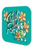 Wall Clock Holiday Travel Agency Coral Reef Plexiglass