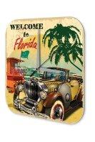 Wall Clock Holiday Travel Agency Florida Beach Acrylglass