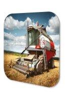 Retro Wall Clock Tractor Factory Combine harvester Acryl...