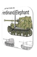 Wall Clock Retro Motif Tanks Ferdinand Printed Acryl...