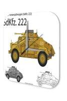 Wall Clock Retro Motif armoured cars Printed Acryl...