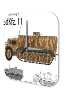 Wall Clock Retro Motif Tank Sd.Kfz 11 Printed Acryl...