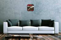 Wall Clock Retro Motif Gun Printed Acryl Plexiglass