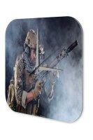 Wall Clock Retro Motif Soldier Printed Acryl Acrylglass