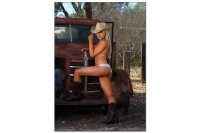Fridge Magnet Sexy Girl Cowgirl vintage