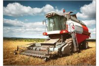 Fridge Magnet rative Tractor Garages Combine harvester