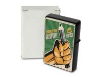 Pocket Windproof Lighter Brushed Oil Refillable Pencil...