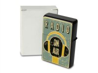 Pocket Windproof Lighter Brushed Oil Refillable radio on air