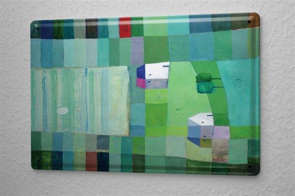 E. Stross Blechschild Toskana Nacht  Wand Deko Metall Schild 20x30 cm
