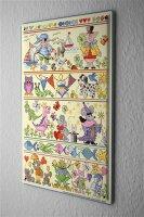 Lindner Design Tin sign kitchen decor Fairy Tale Animals...