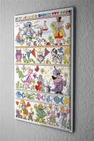 Lindner Design Tin sign Fairy Tale Animals Wall metal...