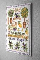 Lindner Design Blechschild Abenteurer Wand Deko Italien Oliven  Metallschild 20x30 cm
