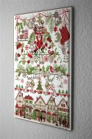 Lindner Design Christmas retro Tin sign wall decoration Santa gifts Wall metal plate 8x12""