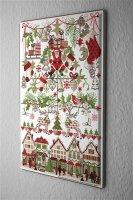 Lindner Design Blechschild Weihnachtsdeko Retro Wand Deko Santa Geschenke Metallschild 20x30 cm