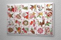 Lindner Design Blechschild Weihnachtsdeko Retro Wand Deko Adventskalender  Metallschild 20x30 cm