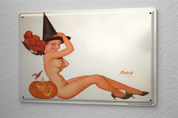 Baron Sexy Fun decorative Tin sign plate Helloween 8x12