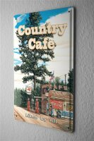 Tin Sign Holiday Travel Agency G. Huber Country Cafe