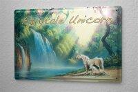 Tin Sign NarRavtive History G. Huber fairytale Unicorn...