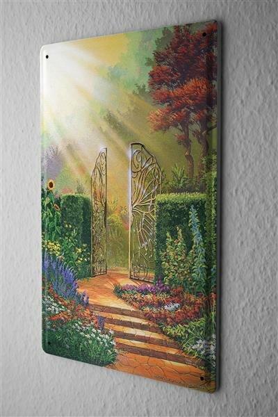 Blechschild Märchen G. Huber magischer Garten Nostalgie