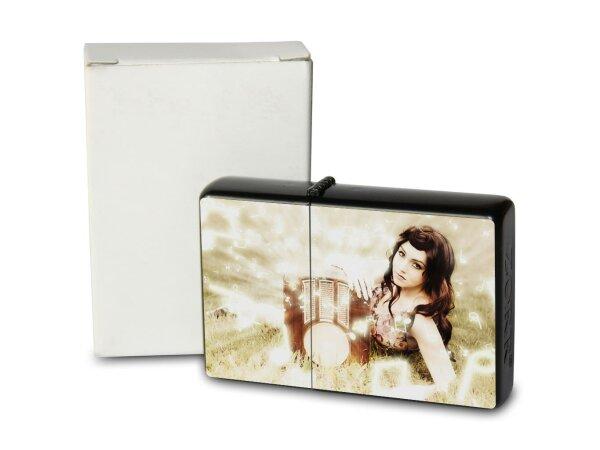 R. Jorgensen Pocket Vintage Windproof Lighter Brushed Oil Refillable brunette Radio