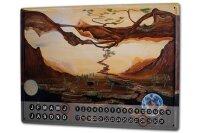 Perpetual Calendar Fantasy Motif Krakowski Moon Earth...