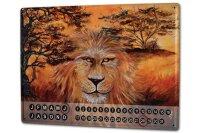 Perpetual Calendar Fun Krakowski Lion Big Cat steppe Tin...