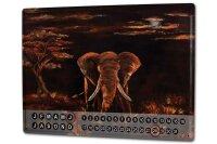 Perpetual Calendar Asia Elephant Motif Krakowski Africa...
