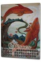 Perpetual Calendar Nostalgic Krakowski Pisces Tin Metal...