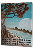 Perpetual Calendar Horoscope Krakowski Virgo Tin Metal...