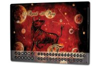 Perpetual Calendar Nostalgic Krakowski Taurus Tin Metal...