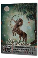 Perpetual Calendar Nostalgic Krakowski Sagittarius Tin...