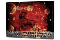 Perpetual Calendar Retro Zodiac Krakowski Taurus Tin...