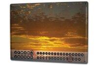 Perpetual Calendar Feng Shui Picture Krakowski Sunset Tin...