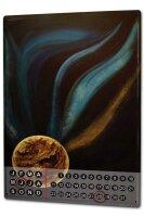 Perpetual Calendar Fun rative Krakowski Planet Tin Metal...