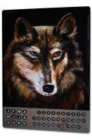 Perpetual Calendar rative Vet Practice Krakowski Wolf Tin...