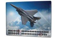 Perpetual Calendar Arms Fighter aircraft Tin Metal Magnetic