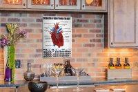 Perpetual Calendar Practice Heart Tin Metal Magnetic