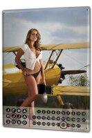 Perpetual Calendar Sexy Fun rative Aircraft Tin Metal...
