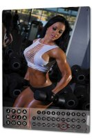 Perpetual Calendar Sexy Fun rative fitness club Tin Metal...